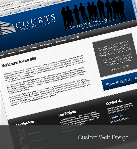 Courts Construction Inc Website
