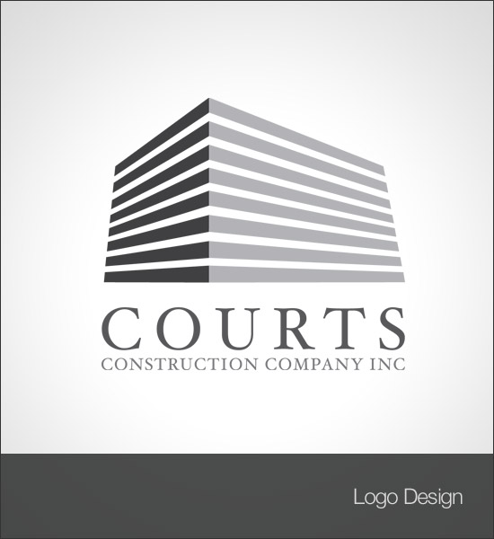Courts Construction Inc Logo Design