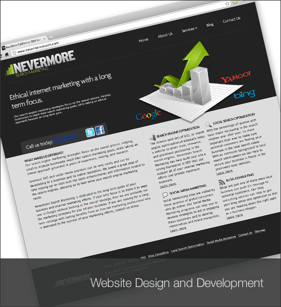 Nevermore Search Website