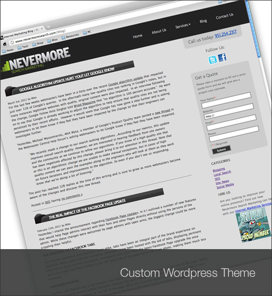 Nevermore Search Blog Theme